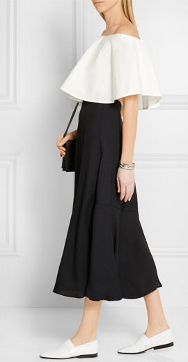 ROSETTA GETTY Cropped off-the-shoulder cotton top