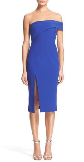 NICHOLAS One-Shoulder Bonded Silk Sheath Dress