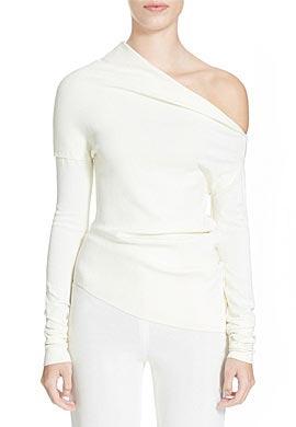 Donna Karan New York Donna Karan Collection Asymmetric Crepe Top