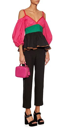 ISA ARFEN off shoulder voluminous blouse