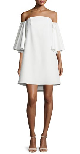 Milly Mila Off-The-Shoulder Mini Dress