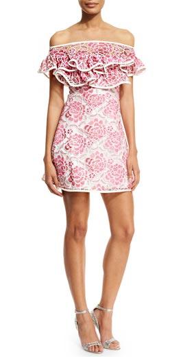 Alexis Paula Floral Popover Mini Dress