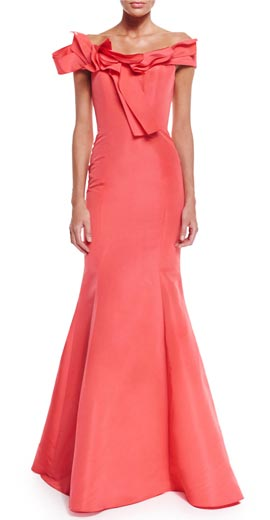 Carolina Herrera Off-The-Shoulder Mermaid Gown