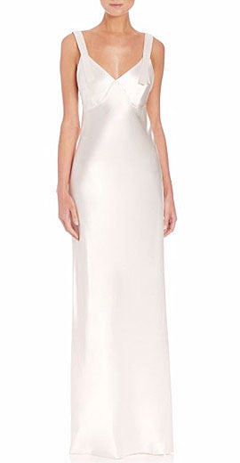 Calvin Klein Collection Gelder Satin Slip Gown