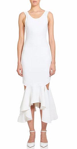 Givenchy Ruffle-Hem Midi Dress
