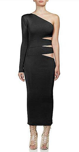 Balmain Cutout One-Shoulder Dress