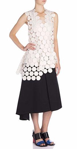 Marni Asymmetrical Macramé Lace Top