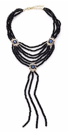 ABS by Allen Schwartz Jewelry Royal Flush Beaded Tassel Necklace