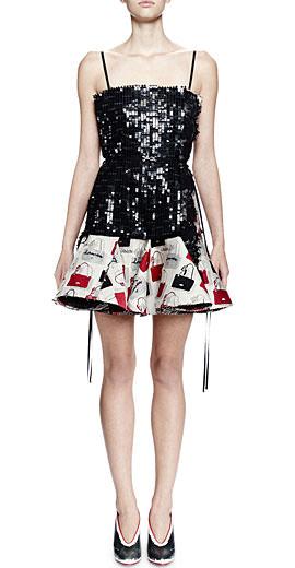 Lanvin Sequined Handbag Cocktail Dress
