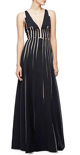 Carolina Herrera Sleeveless A-Line Gown W/Cutouts