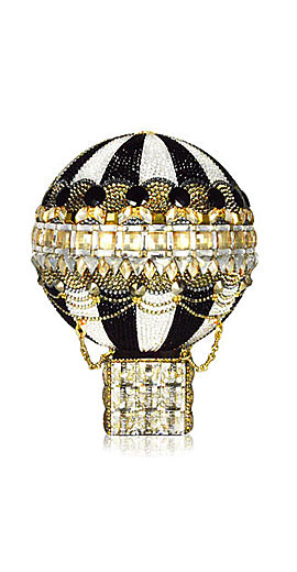 Judith Leiber Couture Rozier Crystal Hot Air Balloon Minaudiere