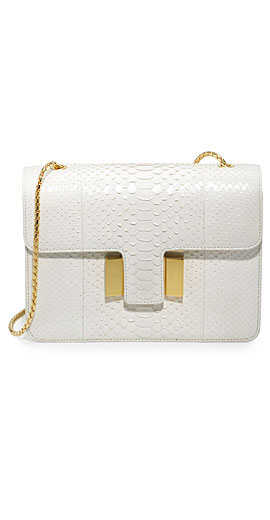 TOM FORD Sienna Medium Python T-Buckle Shoulder Bag