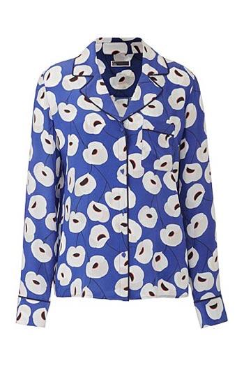 Olivia Palermo x Nordstrom Floral Print Silk Shirt