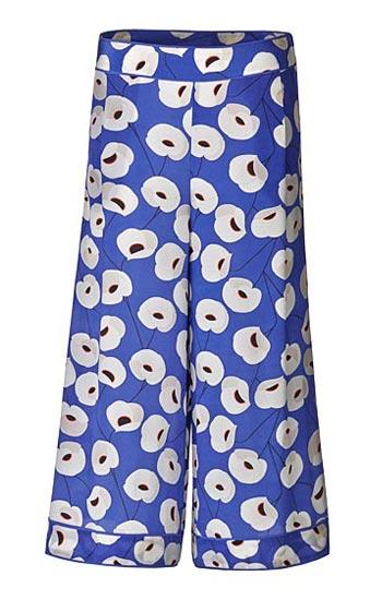Olivia Palermo x Nordstrom Floral Print Silk Culottes
