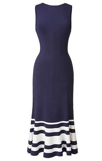 Olivia Palermo x Nordstrom Stripe Knit Maxi Dress