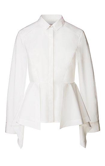 Olivia Palermo x Nordstrom Poplin Peplum Shirt