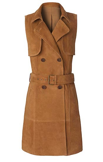 Olivia Palermo x Nordstrom Sleeveless Suede Trench Dress