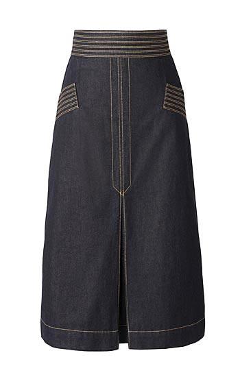 Olivia Palermo x Nordstrom Retro Denim Skirt