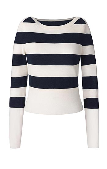 Olivia Palermo x Nordstrom Stripe Wool & Cashmere Pullover