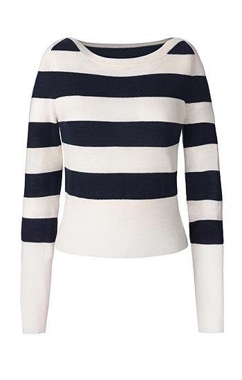 Olivia Palermo x Nordstrom Stripe Wool & Cashmere Pullover