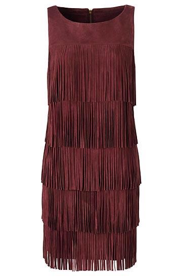 Olivia Palermo x Nordstrom Fringe Mini Dress
