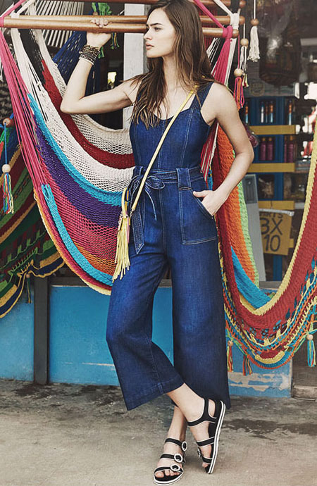 7 For All Mankind Saint Tropez Belted Jumpsuit