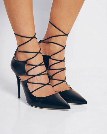 Jimmy Choo Hoops Lace-Up Leather Pump