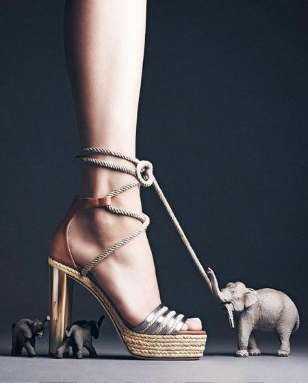 Jimmy Choo Mayje Rope-Tie Platform Sandal