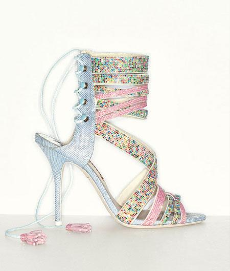 Sophia Webster Adeline Dreamy Crystal Lace-Up Sandal