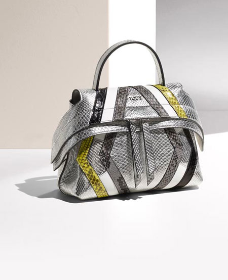 Tods Micro Wave Bag in Metallic