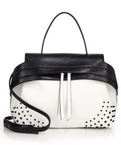 Tods Black and White Wave Bag