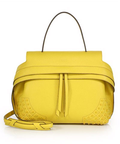 Tods Yellow Wave Bag