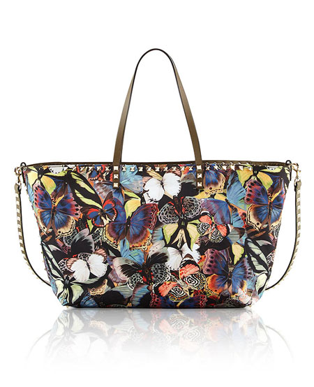 Valentino Camu Butterfly Printed Tote
