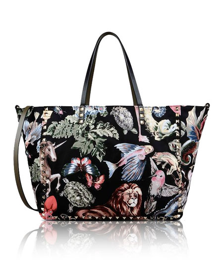 Valentino Rockstud Animalia Reversible Tote Bag
