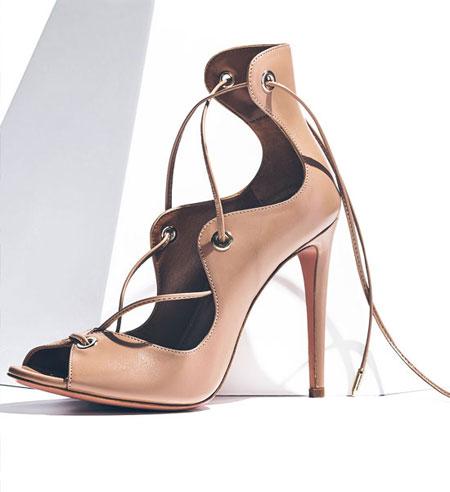 Aquazzura Tango Curvy Lace-Up Sandal