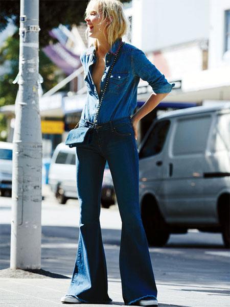 Free People 'Stella' Flare Jeans
