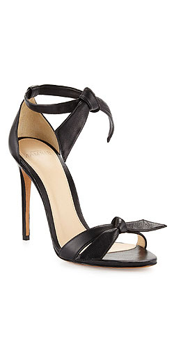 Alexandre Birman Clarita Leather Ankle-Tie 100mm Sandal