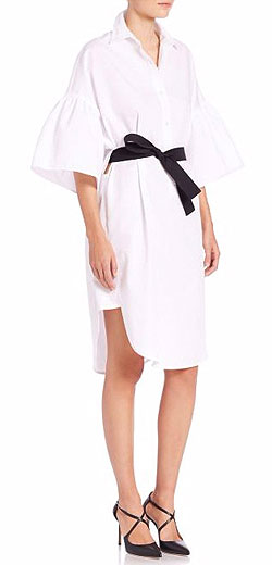 Tome Belted Cotton Shirtdress