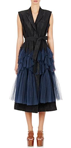 Dries van Noten Roline Sleeveless Wrap-Front Degrade Tulle Dress