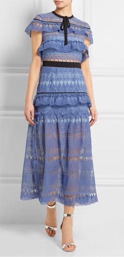 SELF-PORTRAIT Daphne teardrop guipure-lace dress