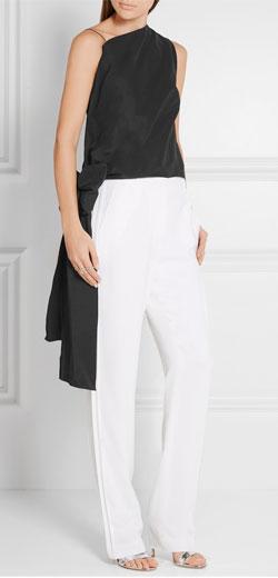 NARCISO RODRIGUEZ Asymmetric cotton-blend faille top