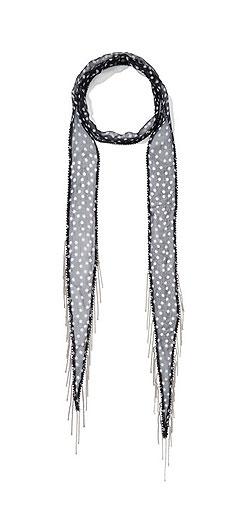 CHAN LUU Embellished polka-dot chiffon scarf