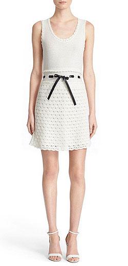 RED Valentino Crochet Sleeveless Cotton Dress