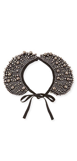 Co Beaded Collar Necklace W/Front Tie
