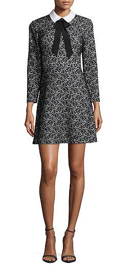 ERIN erin fetherston Mina Bow-Tie Lace Cocktail Dress