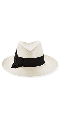Philip Treacy Large Straw Trilby Hat