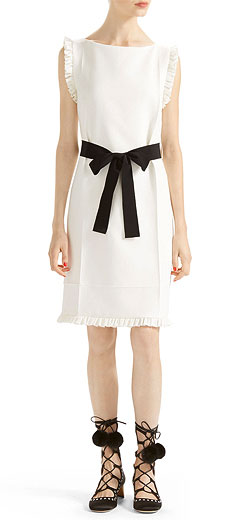 Gucci Wool-Silk Belted Dress
