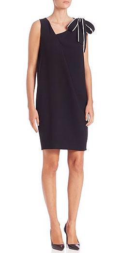 Boutique Moschino Sleeveless Bow-Detail Shift Dress