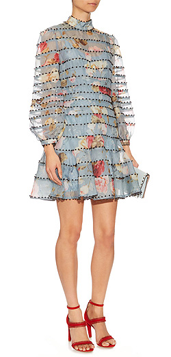 ZIMMERMANN Havoc embellished silk-organza dress