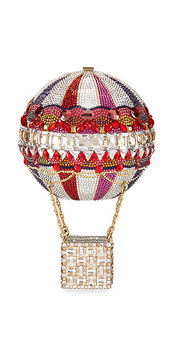 Judith Leiber Couture Hot Air Balloon Savannah Crystal Clutch Bag